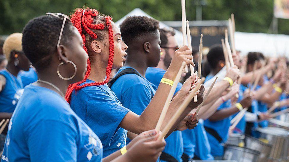 Children drumming