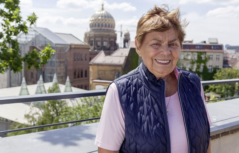 Ruth Winkelmann on the roof terrace of her former school