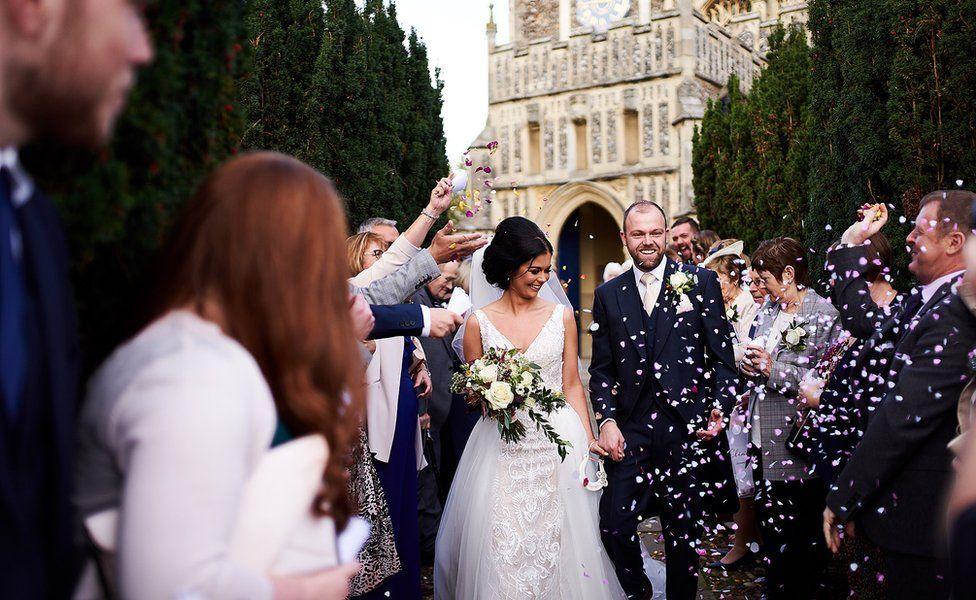 A wedding photo taken by Bushfire Photography