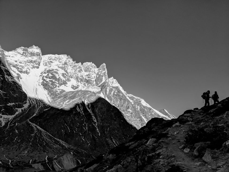 Climbers in the Himalayas - Gokyo Renjo La Pass Trek.