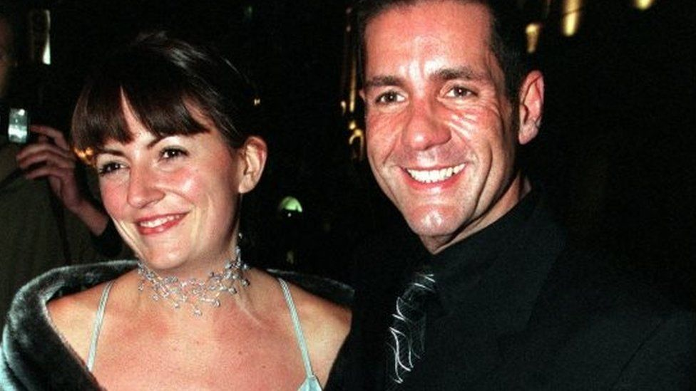 Davina McCall with Dale Winton in 1998
