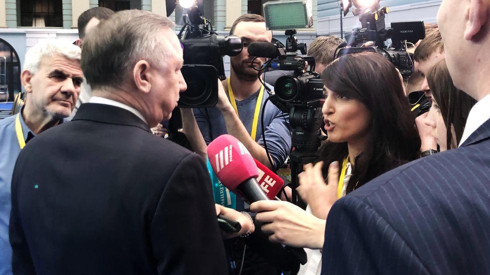 Беглов обещал позвонить корреспонденту Би-би-си, но так этого и не сделал. Февраль 2019 г.