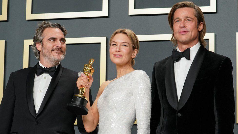Joaquin Phoenix, Renee Zellweger and Brad Pitt