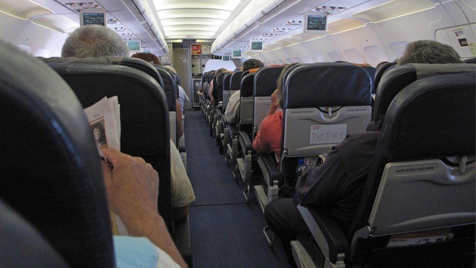 Interior of EasyJet flight