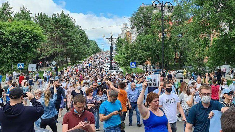 Protest in Khabarovsk - 11 July