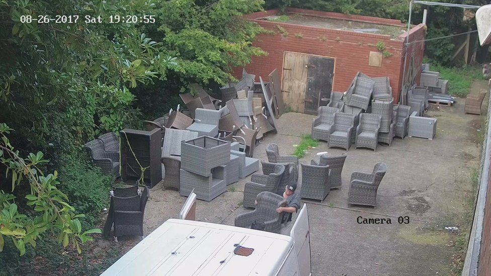 CCTV footage from the day of the theft