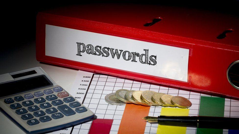 A folder labelled 'passwords'