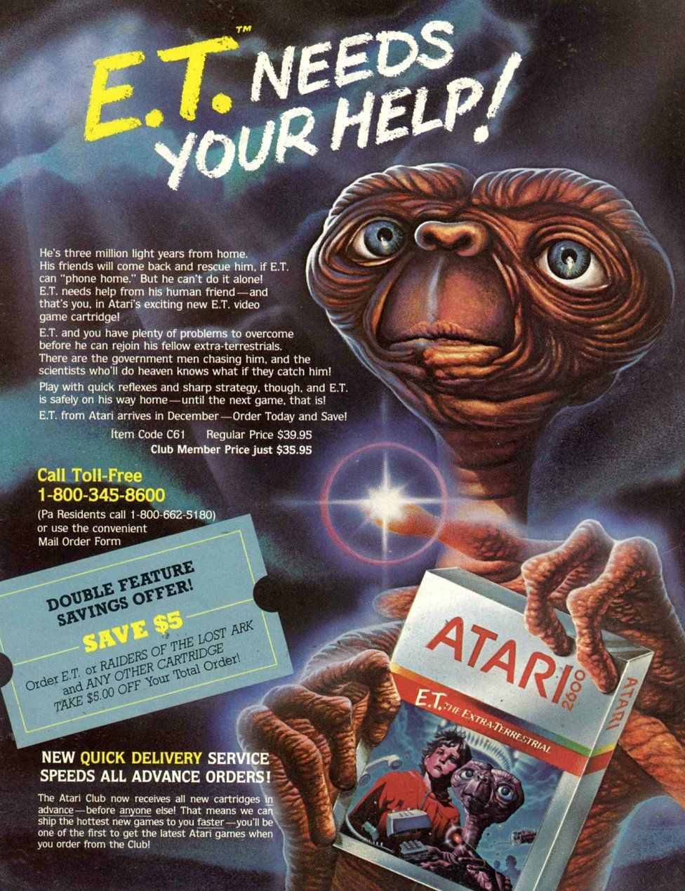 Magazine advert for ET the video game