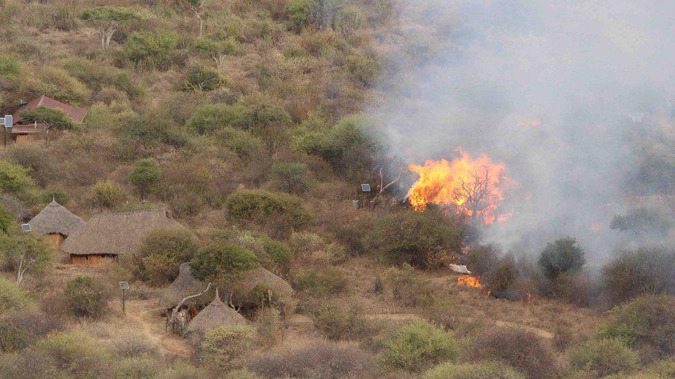 burned lodge