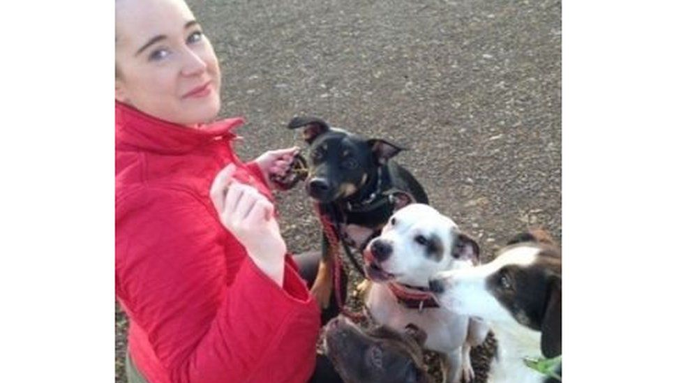 Lynsey with her dogs