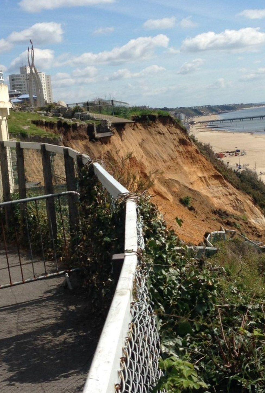 The landslip at East Cliff