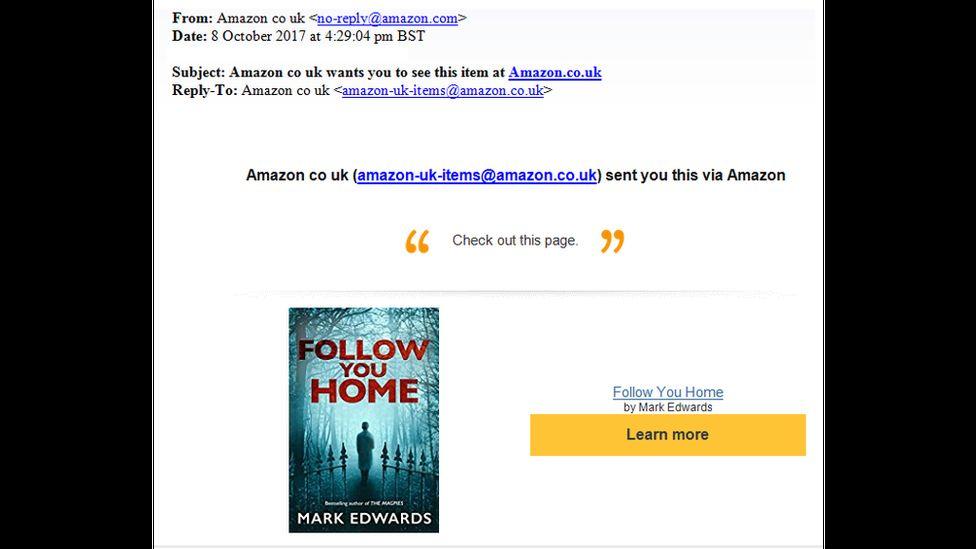 Email screengrab