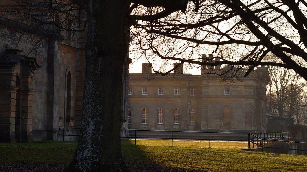 """Sunday sunset at Blenheim palace"""