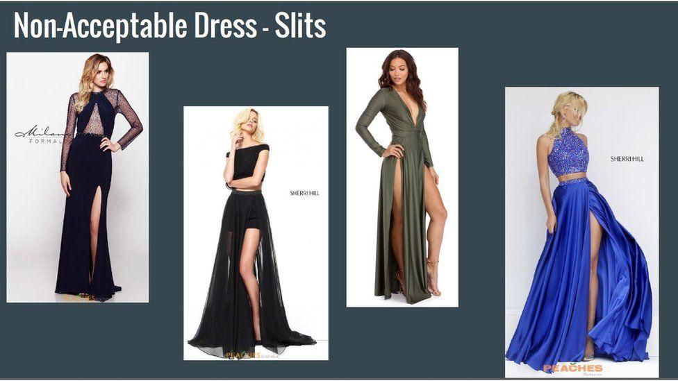 Dresses with splits.