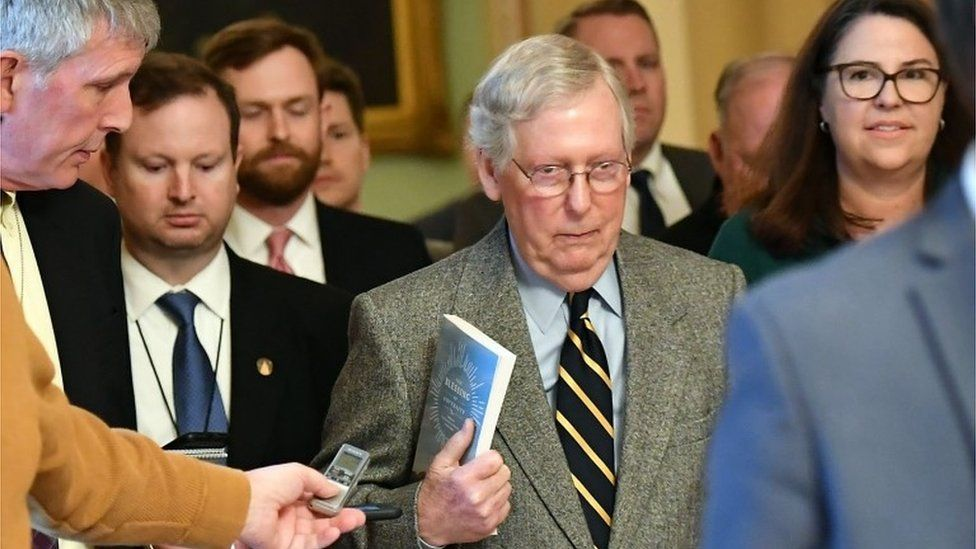 Senate Majority Leader Mitch McConnell at the Senate, 3 January 2020