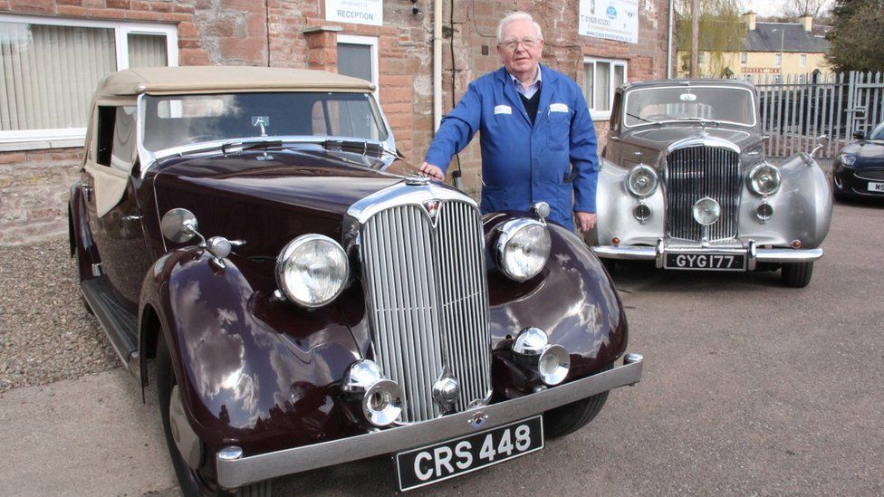 Charles Palmer with 'Outlander' car'