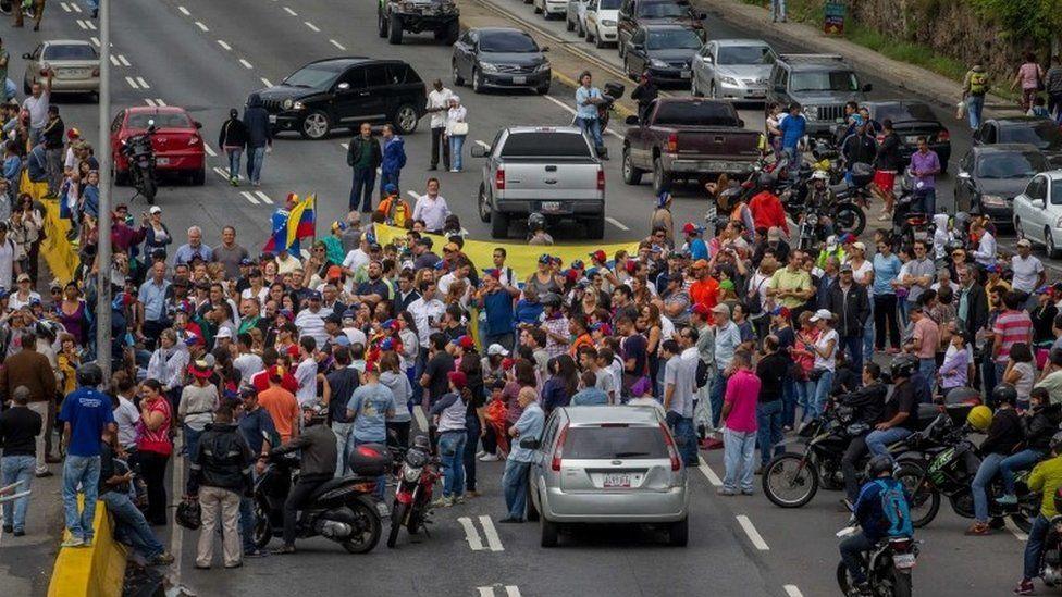 Roadblock in Caracas