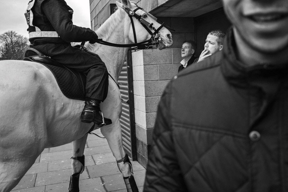 Mounted police at the ground