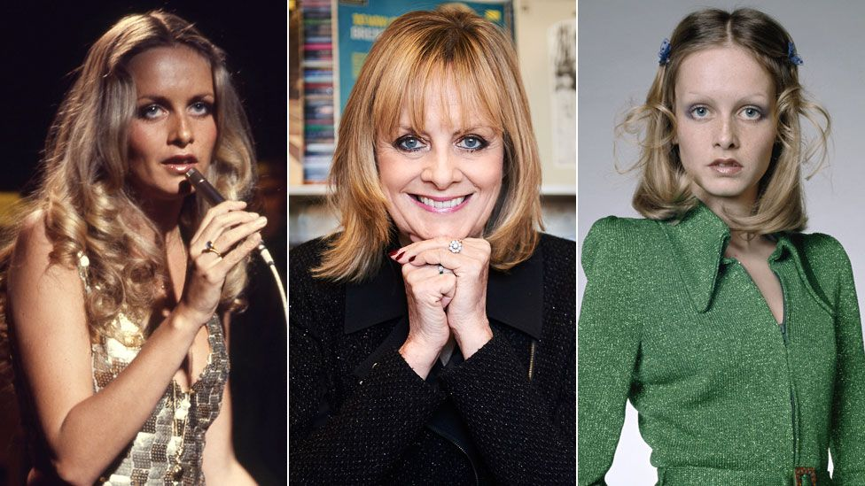 Twiggy in the 1970s (left and right) and in 2016 (centre)