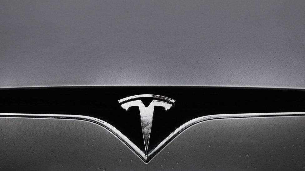 Tesla car front