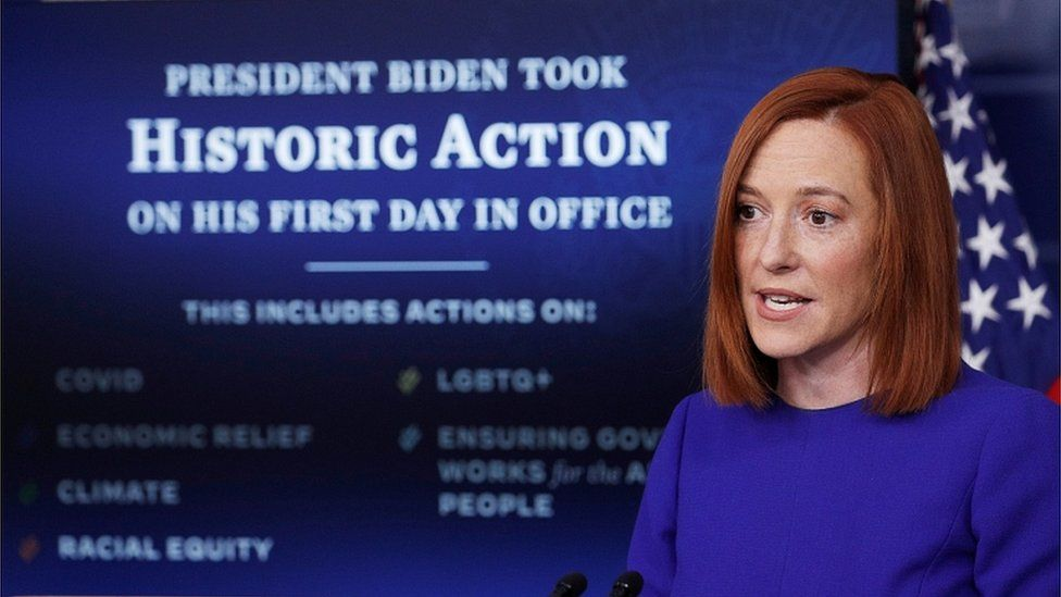 White House Press Secretary Jen Psaki speaks after the inauguration of Joe Biden, January 20, 2021