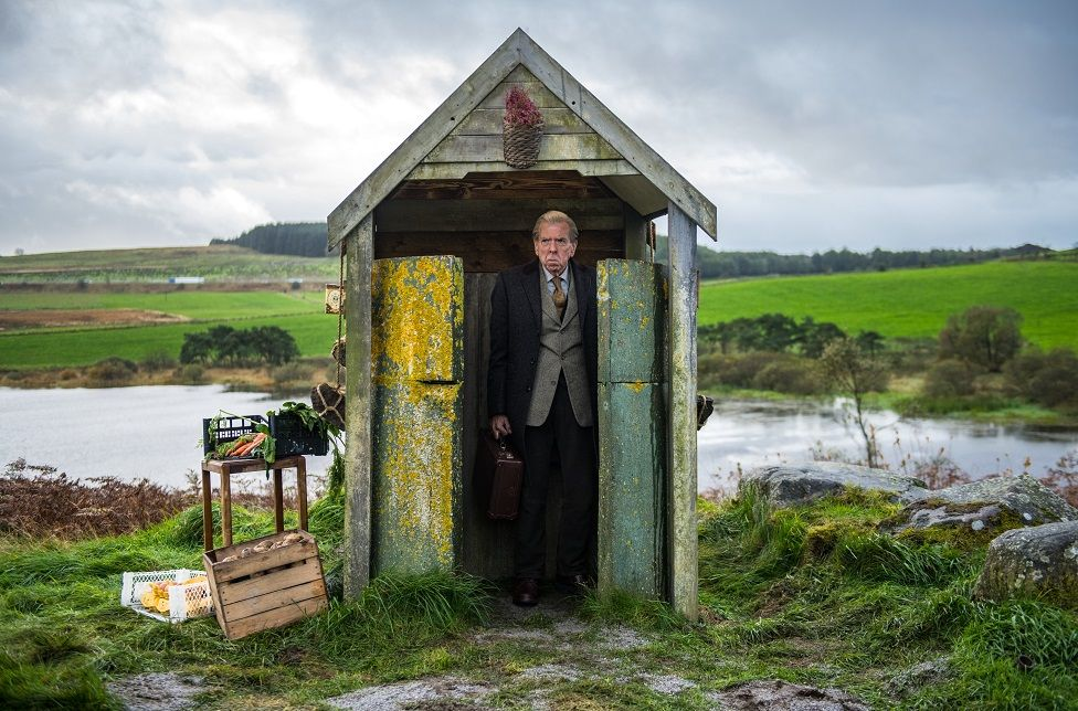 Timothy Spall on location