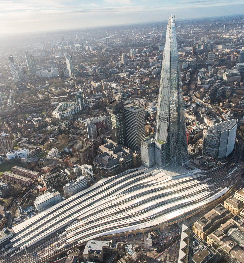 London Bridge station from above