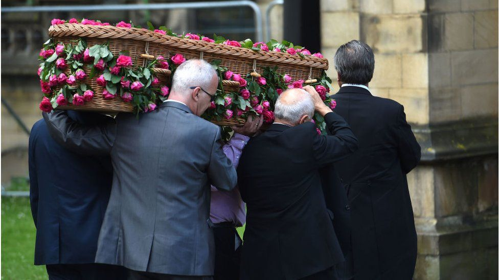 Funeral after the Manchester attack