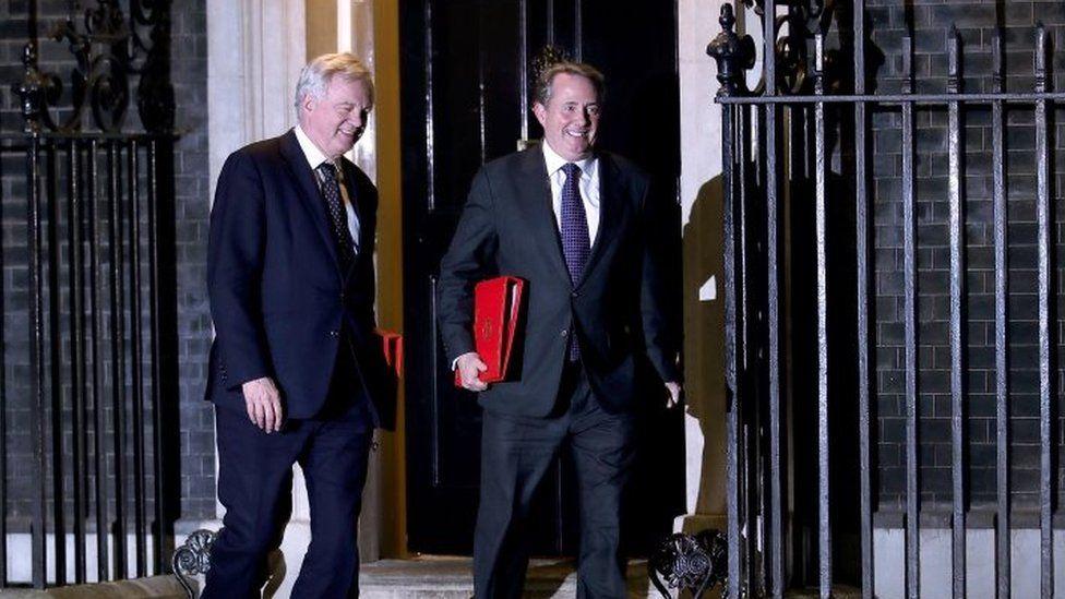 David Davis and Liam Fox leave Number 10