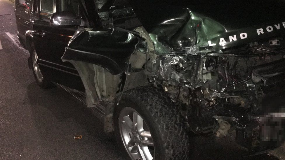 The damage caused to a vehicle whose driver was innocently caught up in a collision
