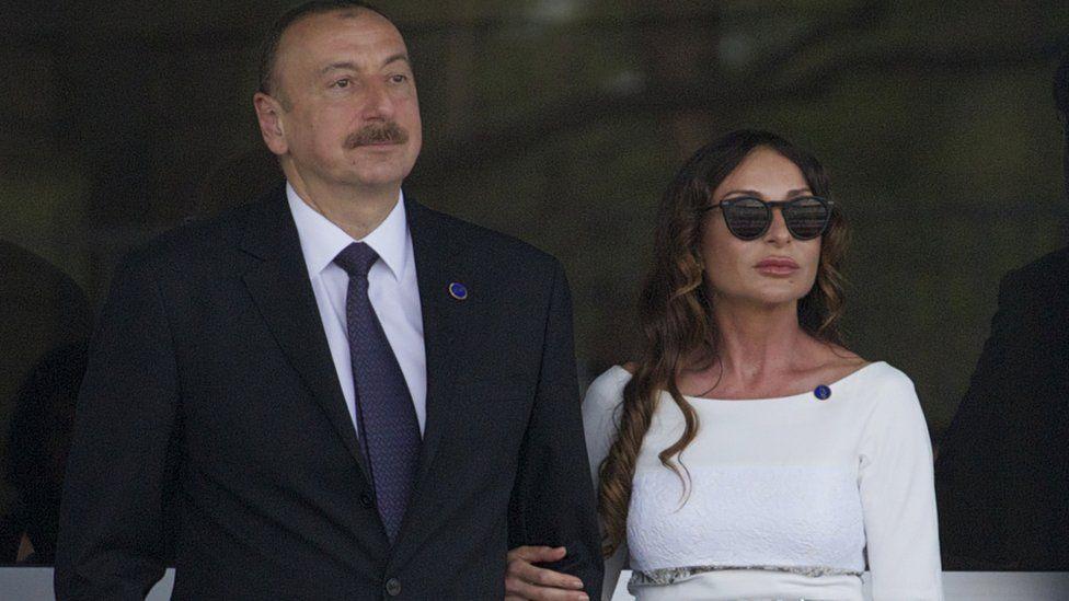 Azerbaijan President Ilham Aliyev and wife Mehriban, 19 Jun 16