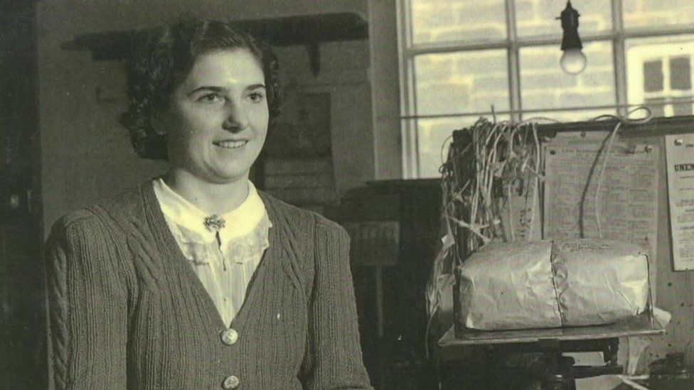 Kay White, as postmistress in the 1960s
