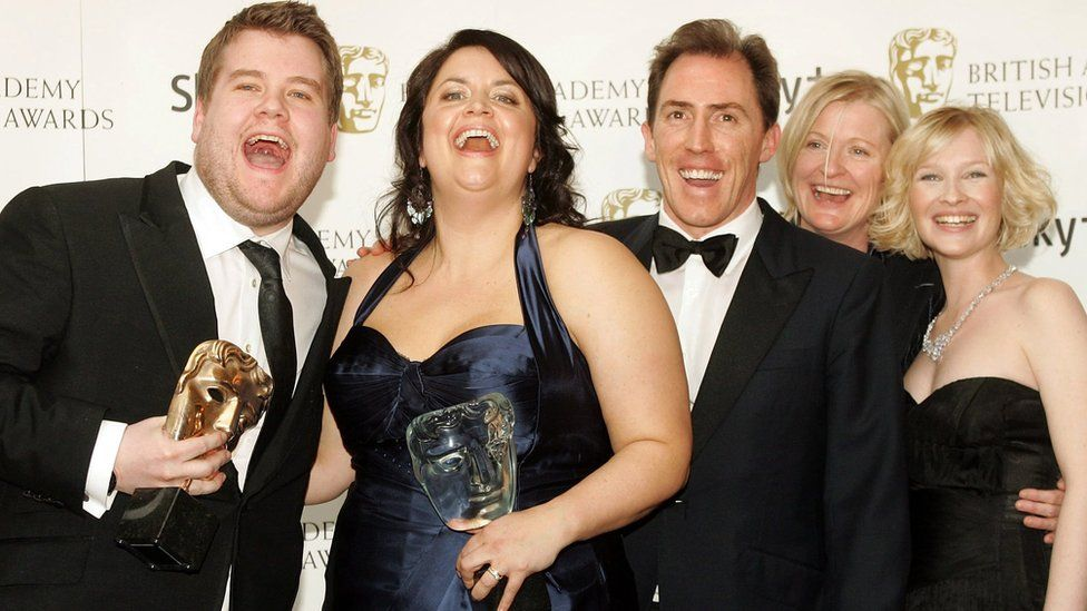 James Corden and the cast and crew of Gavin and Stacey