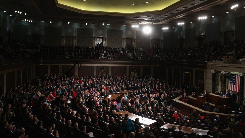Barack Obama speaks to a joint session of Congress.