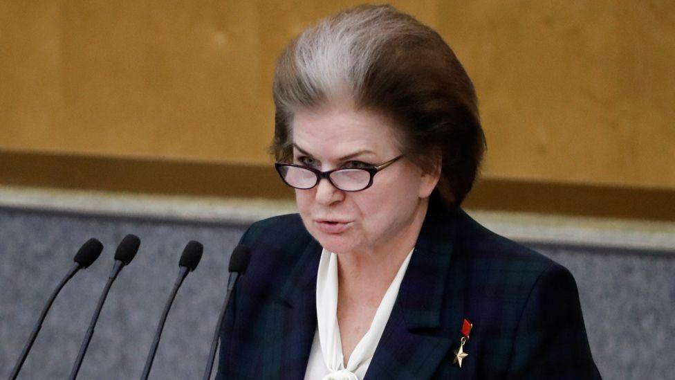 Russian MP Valentina Tereshkova, 10 Mar 20