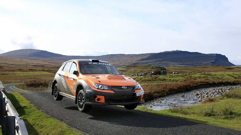 Rally car in Mull