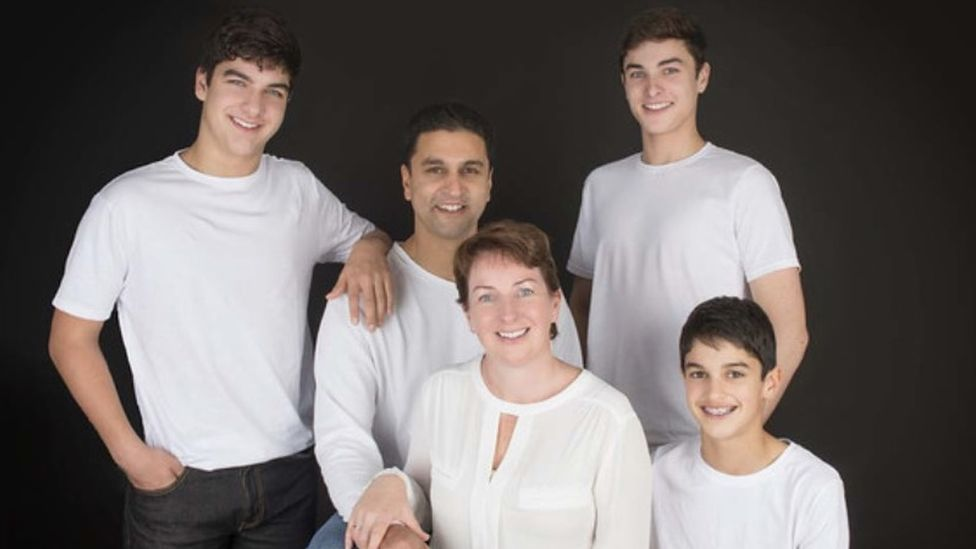 Prof Francis Vaz and his family