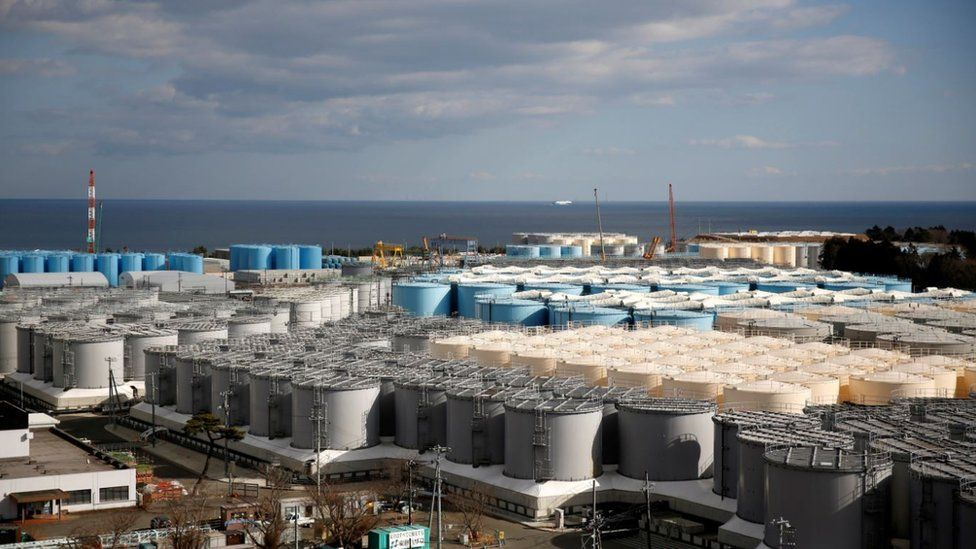 "Storage tanks for radioactive water are seen at Tokyo Electric Power Co""s (TEPCO) tsunami-crippled Fukushima Daiichi nuclear power plant in Okuma town, Fukushima prefecture, Japan February 18, 2019."