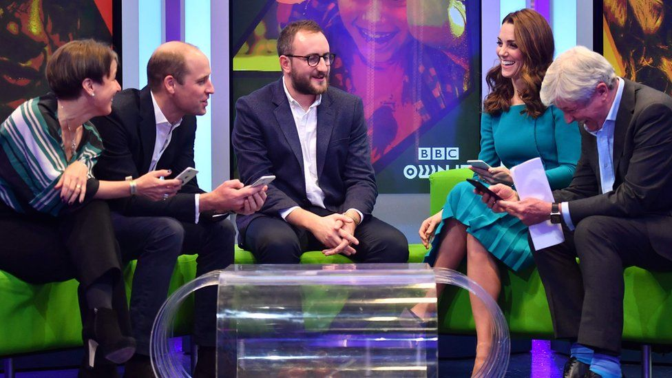 The royals try out an app designed to tackle online bullying