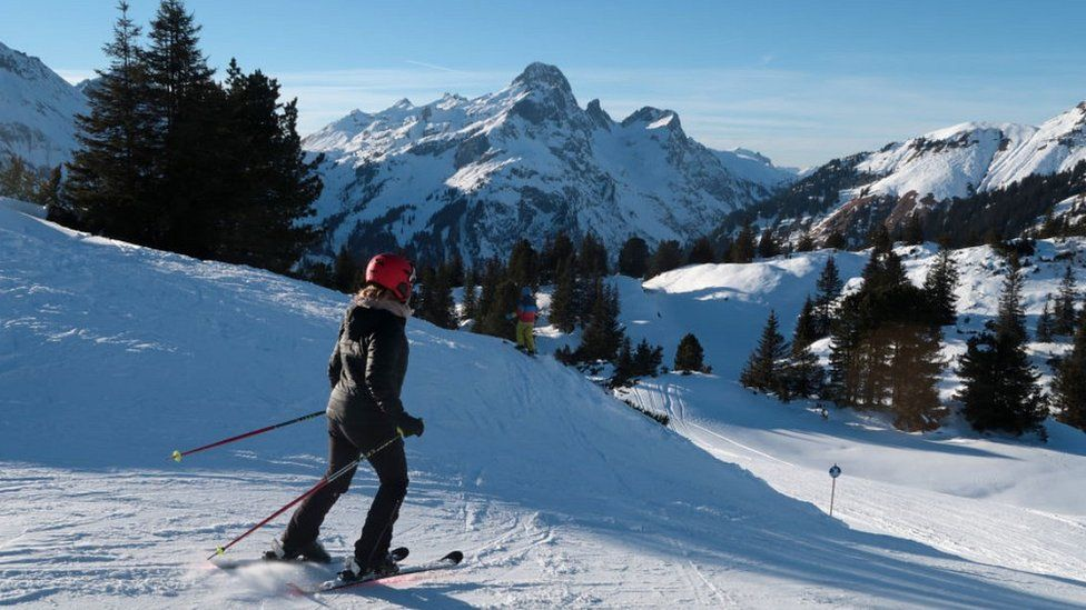 Skier in Lech area near St Anton, file pic, 2017