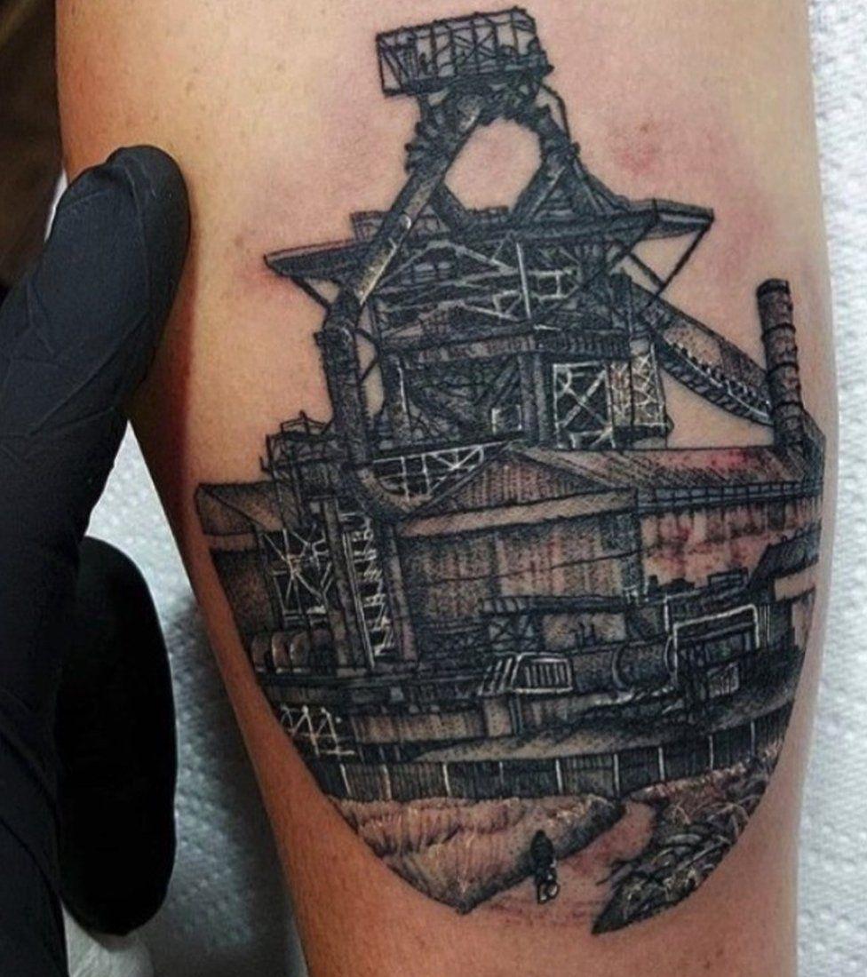 Tattoo of Redcar blast furnace