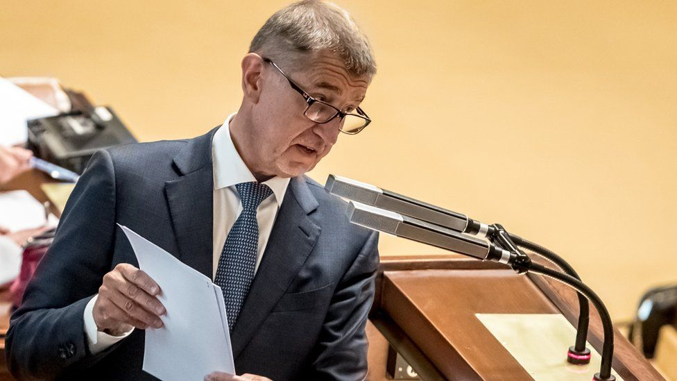Czech Prime Minister Andrej Babis delivers a speech during a session of the Czech Parliament in Prague, Czech Republic, 31 May 2019