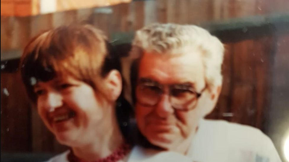 Sally Lewis and her father John
