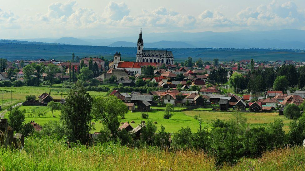 Ditrau, a small town in Romania