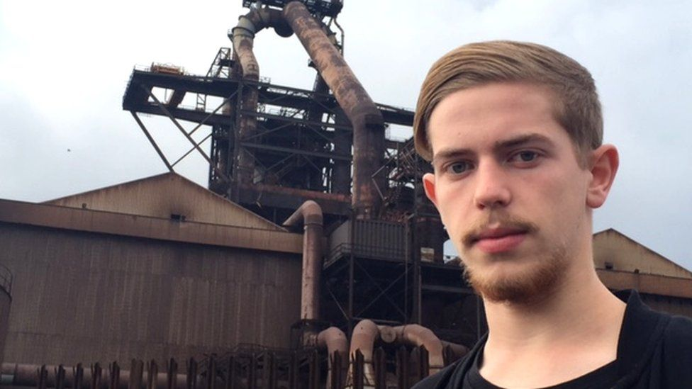 Harry worked at the steelworks