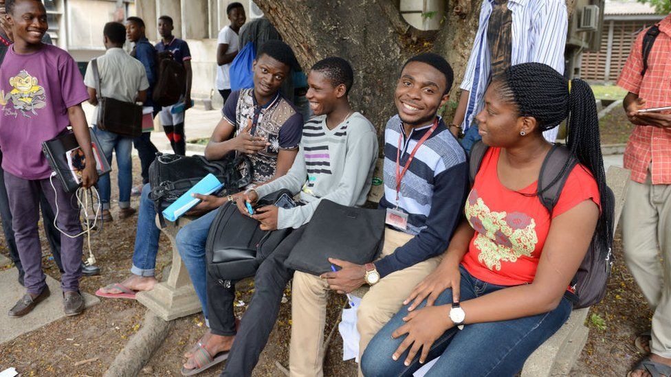 Students at Lagos University