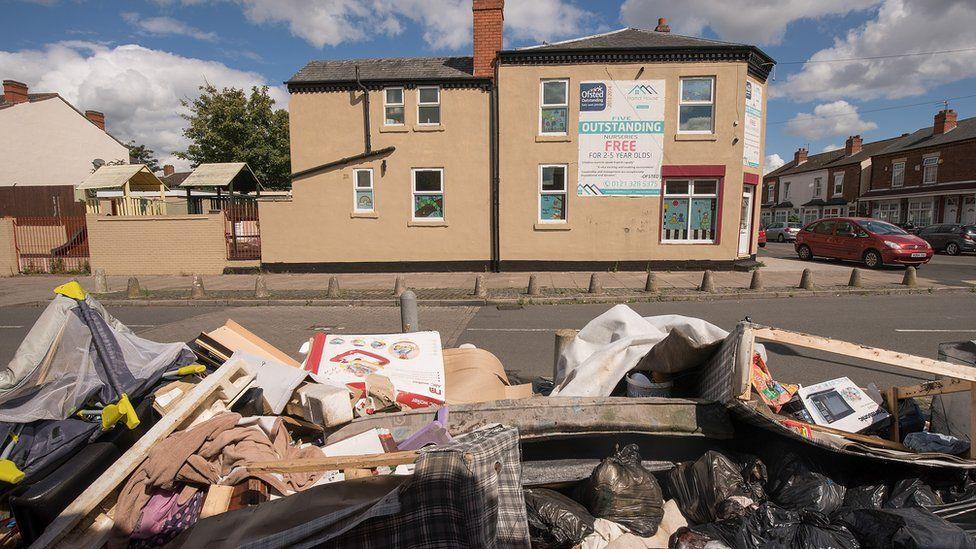 Rubbish in Alum Rock, Birmingham