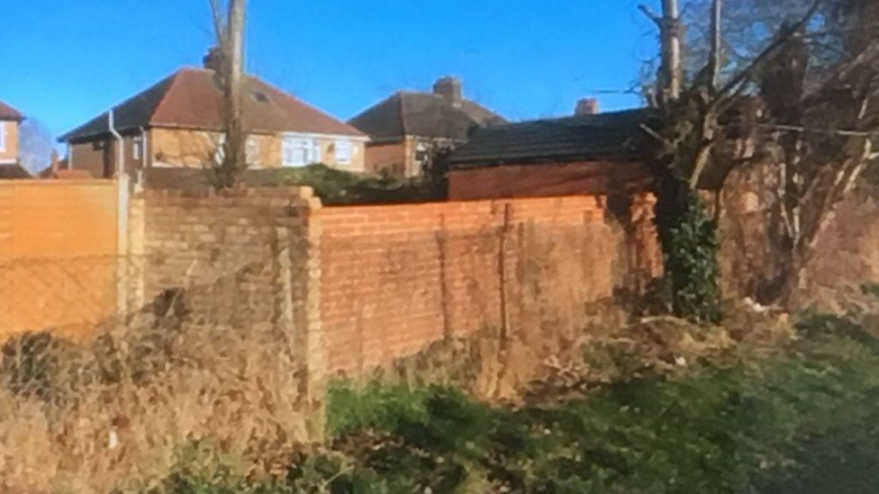 Illegal wall in Grimshaw Road, Peterborough
