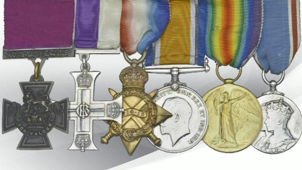 Medals awarded to Captain George Sanders