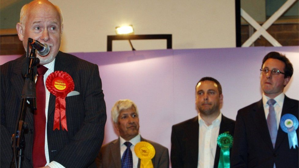 Kelvin Hopkins makes his victory speech after being re-elected in 2010
